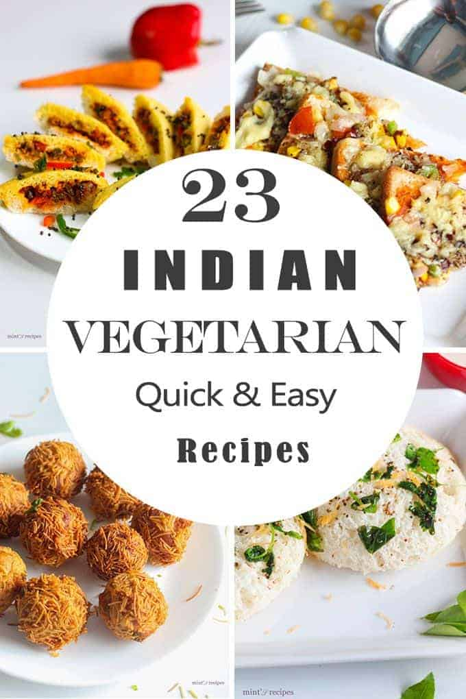 indian vegetarian food recipes