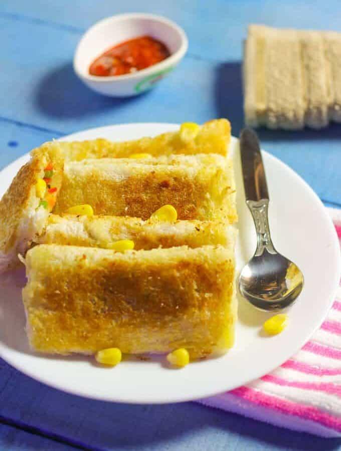 Bread Cheese Pouch Recipe – Evening Snacks Recipe