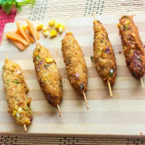 Cheese Corn Kebabs
