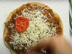 Cheese Pav Bhaji Roti Sandwich