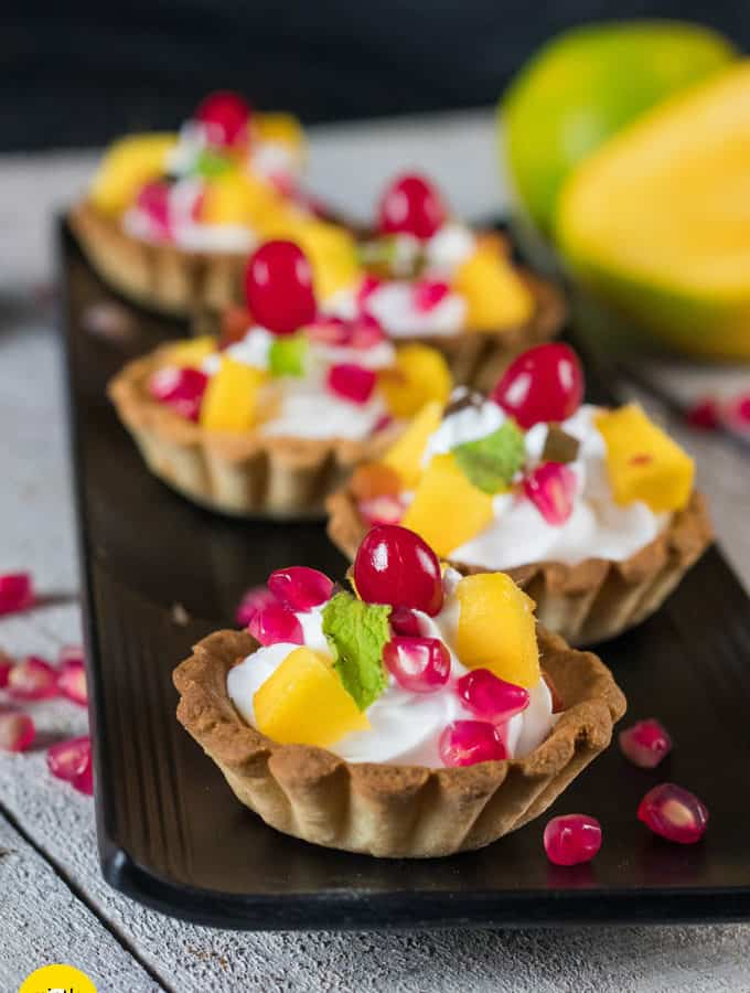 Cream & Fruit Tarts Recipe | Party Desserts