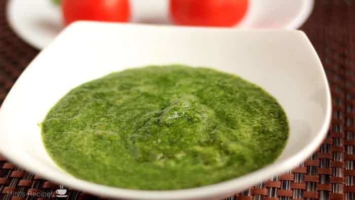 how to prepare green chutney for sandwich