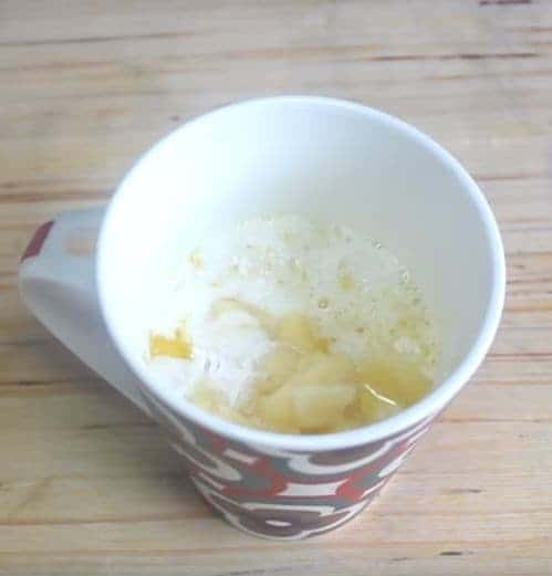 eggless mug cake preparation
