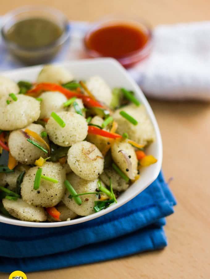 Mixed Veg Fried Idli | South Indian Recipe