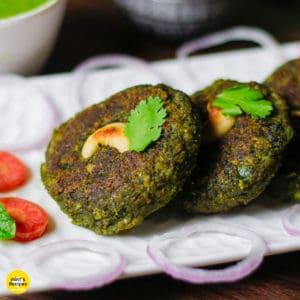 Veg Kabab on a white plate