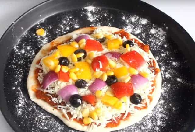 Italian Pizza On Tawa