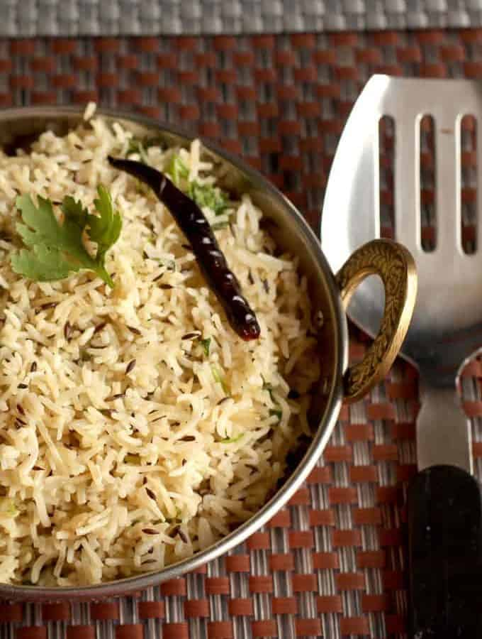 How to Make Jeera Rice Recipe In Pressure Cooker
