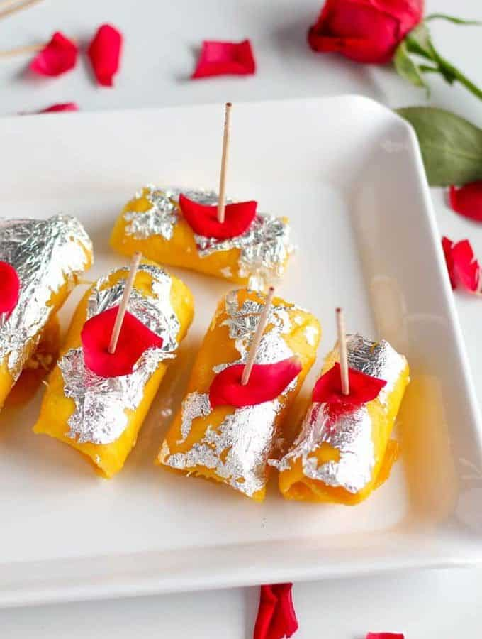 How to make Mango Cheese Roll Dessert Recipe