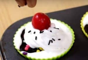 No bake oreo icecream cupcake