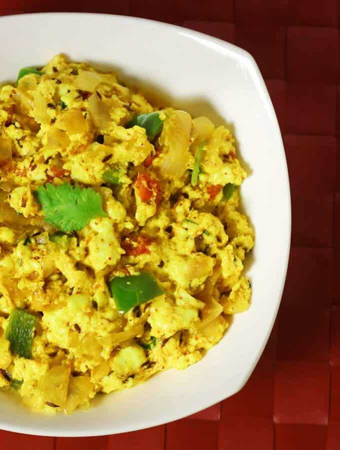 How To Make Paneer Bhurji | Dry Paneer Bhurji Recipe