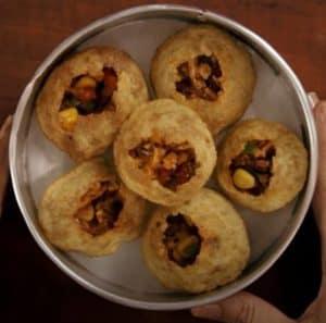 Panipuri on a plate
