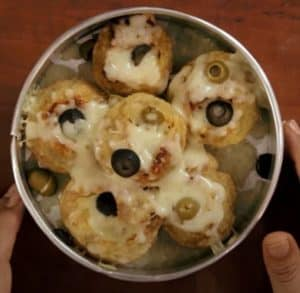 Panipuri in a baking tray
