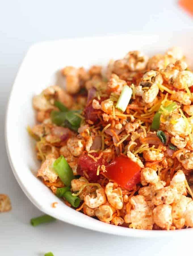 Popcorn Bhel Recipe for Evening Snacks