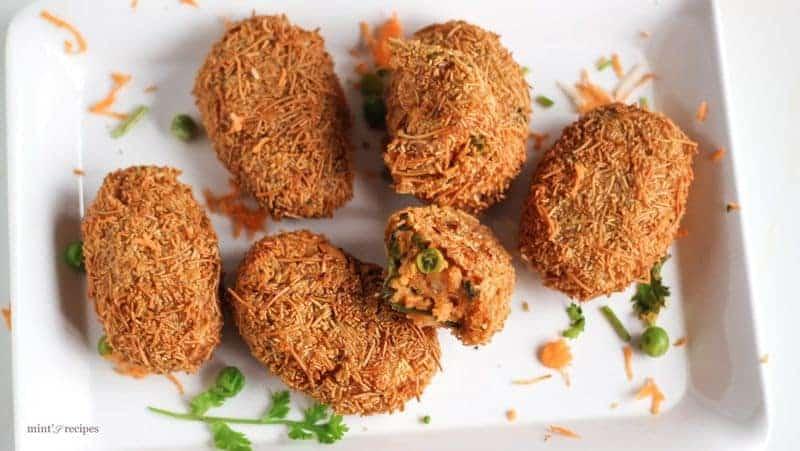 Potato Vermicelli Cutlet Recipe