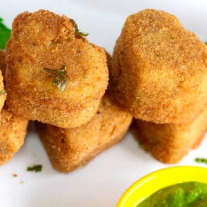 Cutlets made from Suji (Rava)
