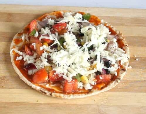 Screenshot of Roti Pizza recipe