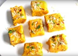 Kesaria Milk Powder Barfi