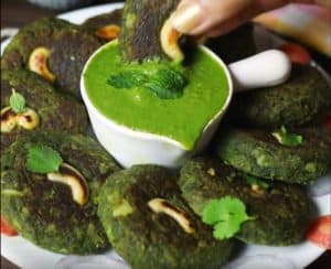 Kabab serve with chutney