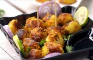 Tandoori Aloo Tikki in serving Plate