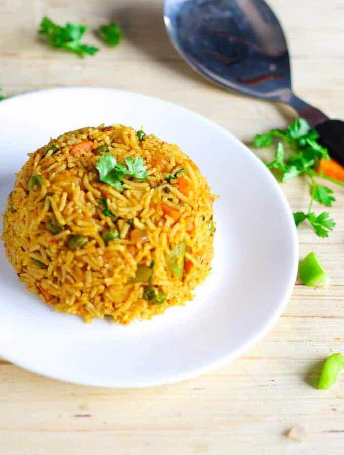 Indian Street Tawa Pulao Recipe | Mumbai Food