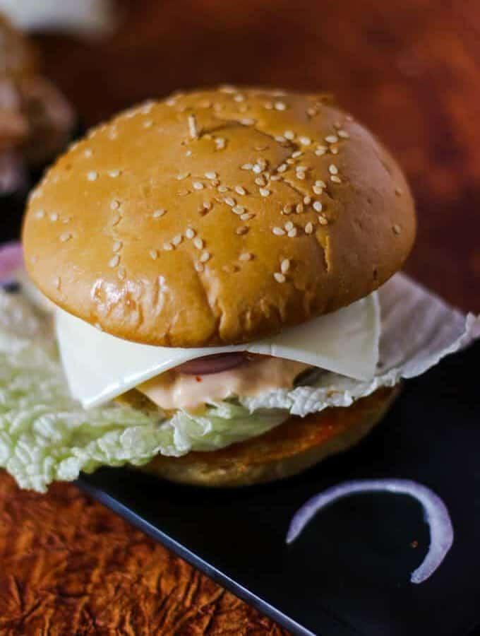 Veg Burger Recipe | How To Make Veg Burger At Home