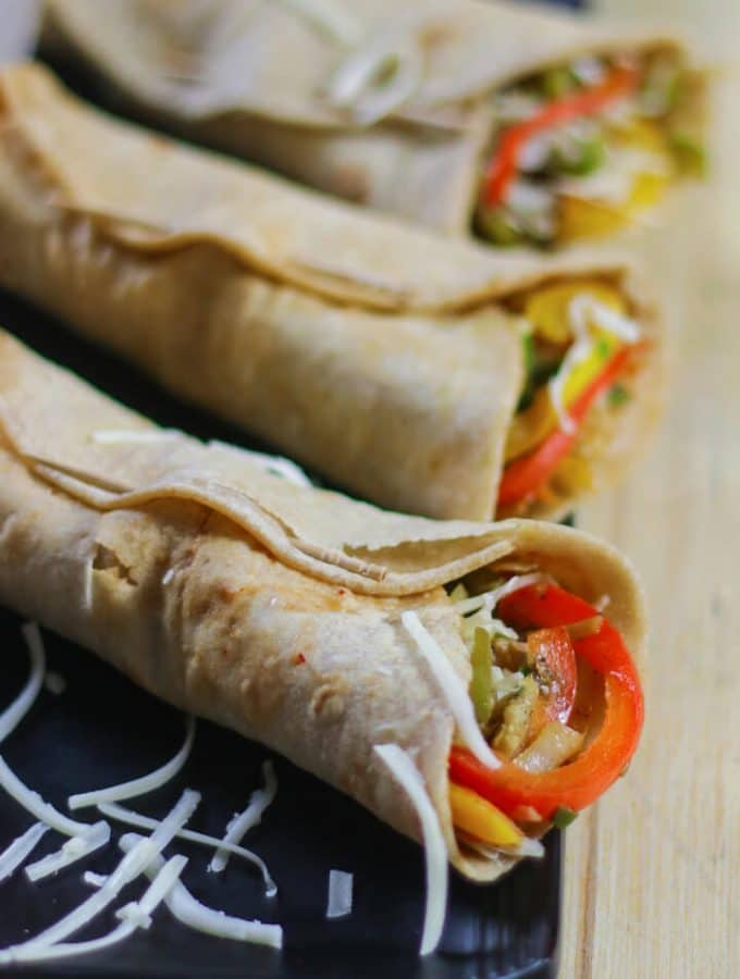 Veg Frankie Recipe For Kids Lunch Box and Snacks