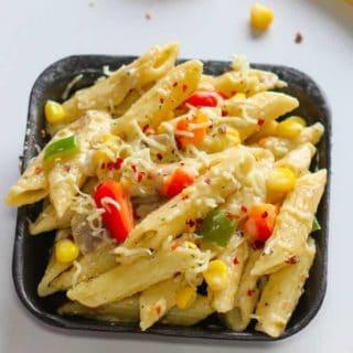 white sauce pasta recipe hindi