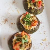 Chaat Topped Aloo Palak Tikki Recipe