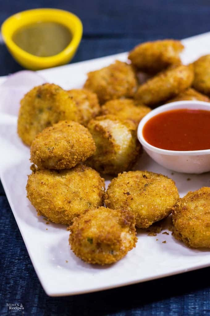 Stuffed Onion Rings recipe served with Tomato Ketchup