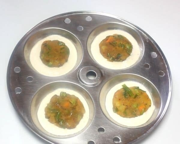 Stuffed Rava Idli