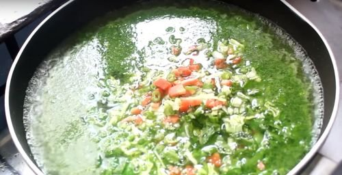 Now add finely chopped mixed vegetables, mix it well and cook for 3-4 minutes on medium flame till the veggies become little soft.